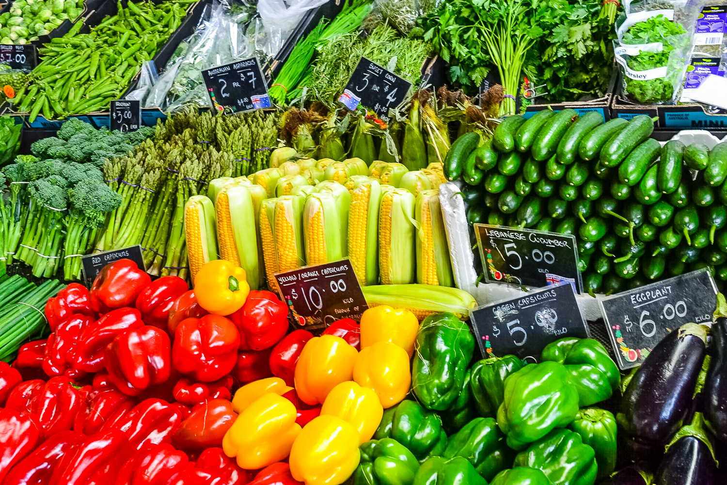 Vegetables at Queen Victoria Market Melbourne Australia - Photo by Julia Reynolds