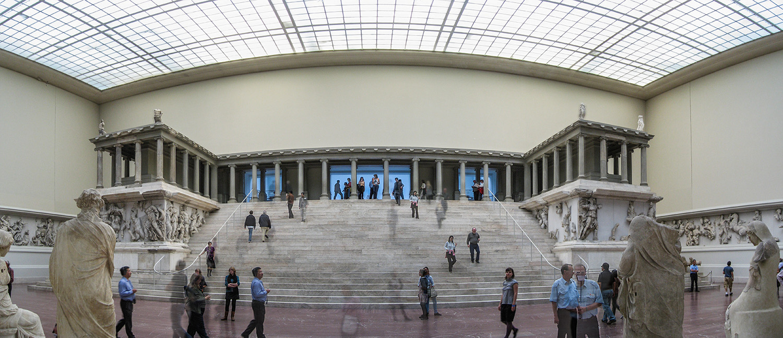 The Pergamon Altar in the Pergamon Museum in Berlin.