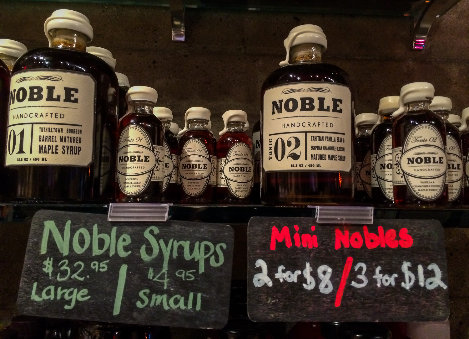 Noble maple syrup at Edible Canada on Granville Island. Best. Syrup. Ever. Photo by Johanna Read TravelEater.net-Wayward Weekend Vancouver-9.jpg