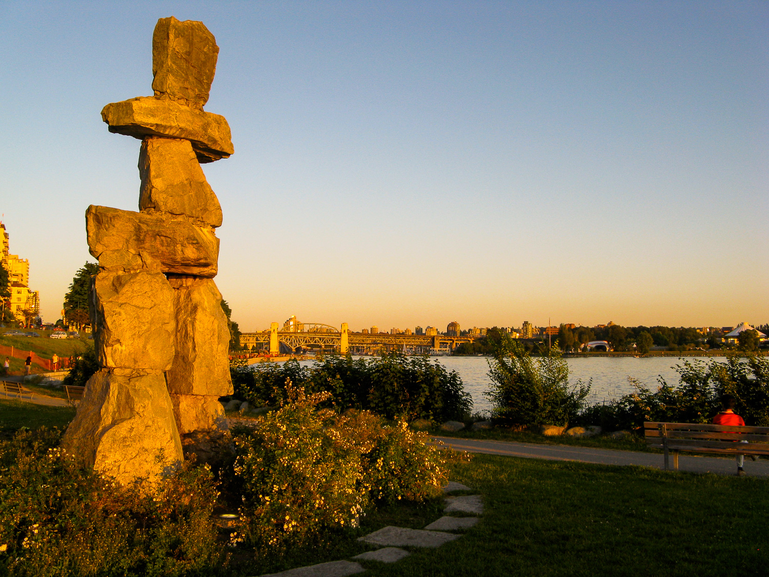The inukshuk -- a sympol of the 2010 Olympics -- on the sea wall in the West End. Photo by Johanna Read TravelEater.net-Wayward Weekend Vancouver-3.jpg