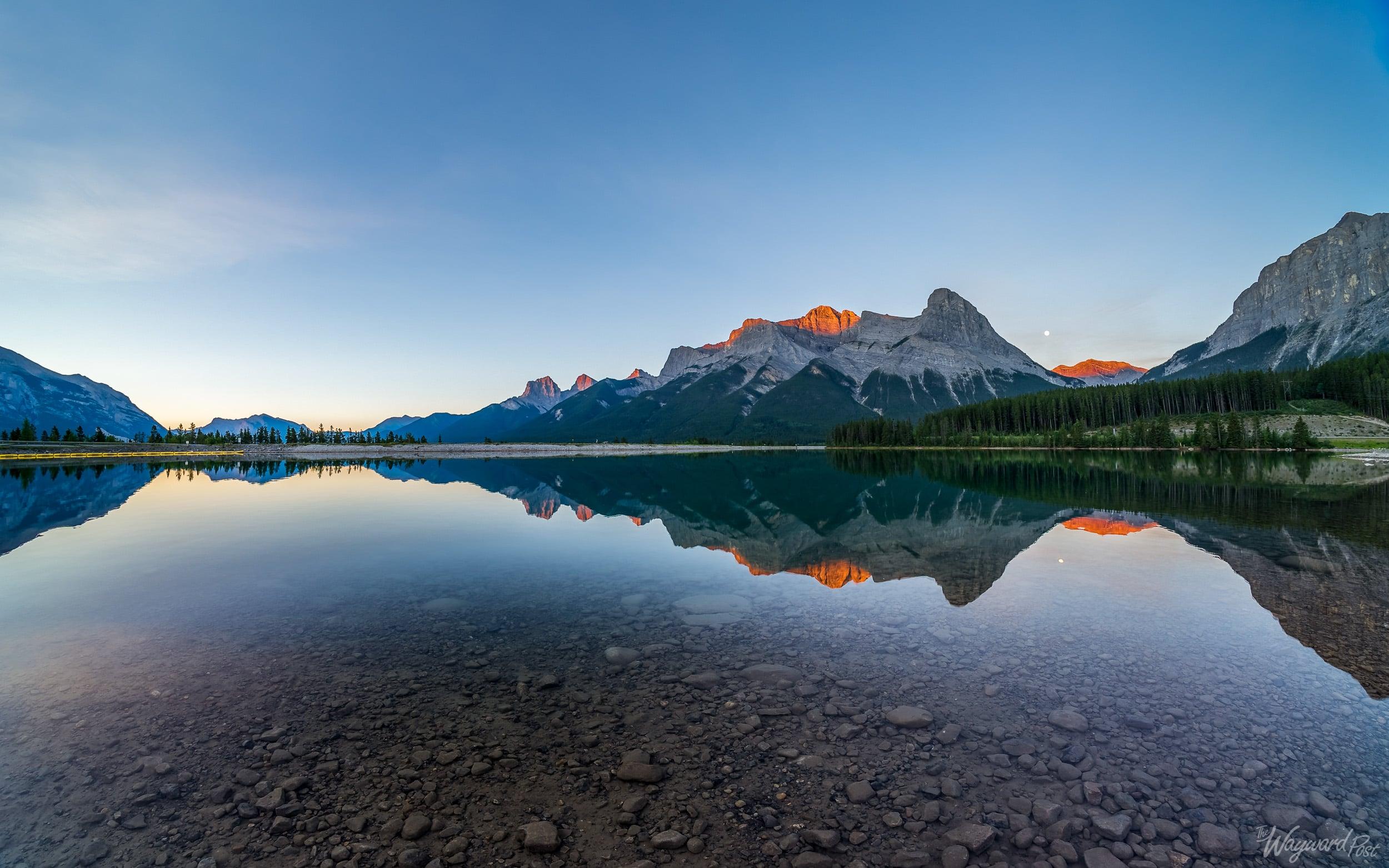 East End of Rundle Lake - The Wayward Post - Photo Story - Banff National Park.