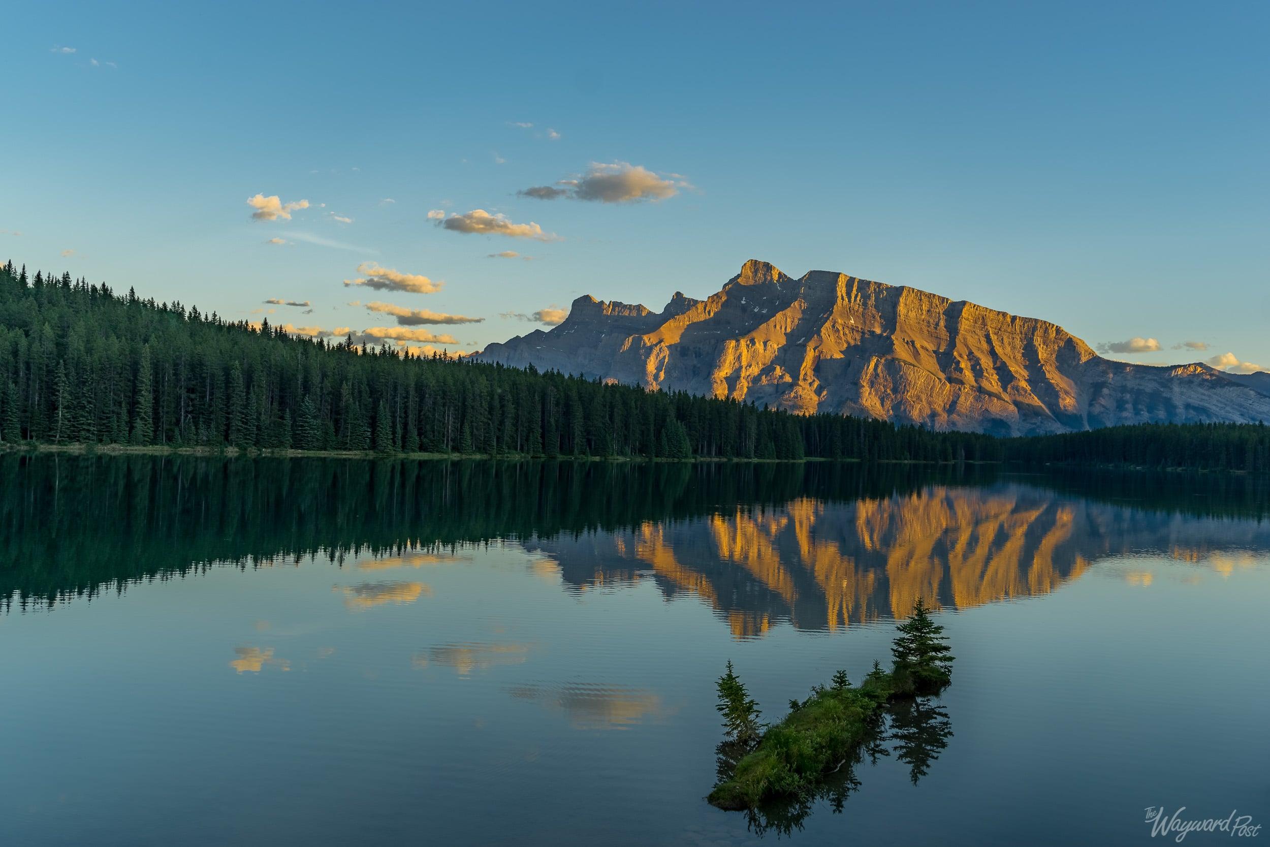 Two Jack Lake Sunset - The Wayward Post - Photo Story - Banff National Park.