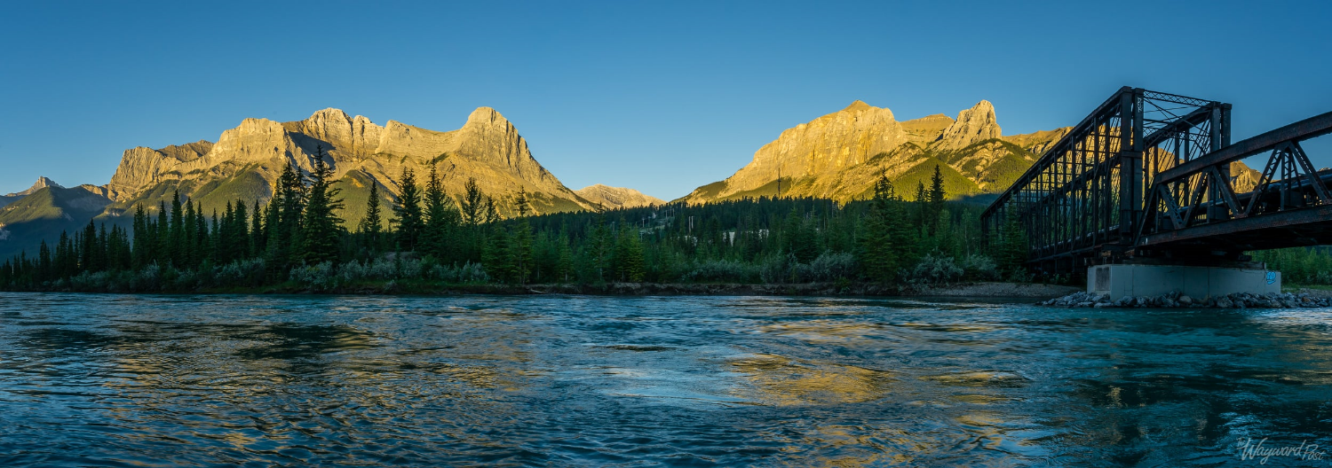 Spur Line Trail crossing Bow River - The Wayward Post - Photo Story - Banff National Park.