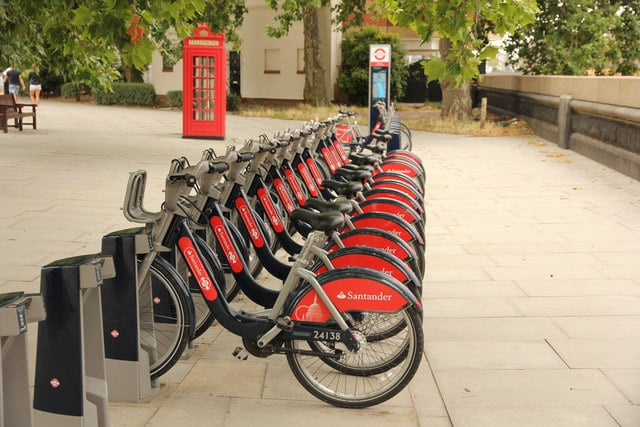 Santander (Boris bikes) in London.