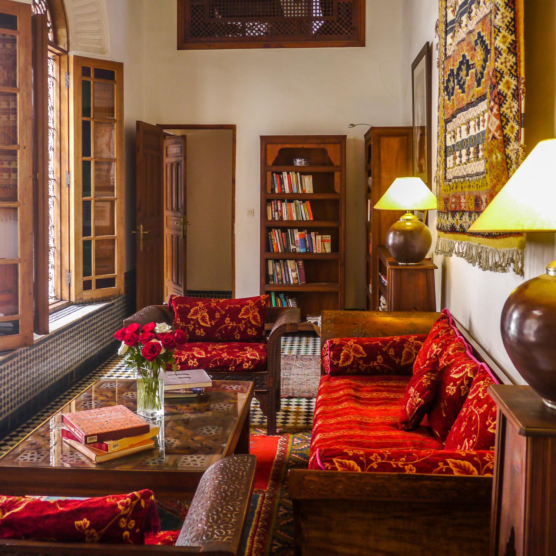 Dar Roumana library. Photo by Johanna Read TravelEater.net