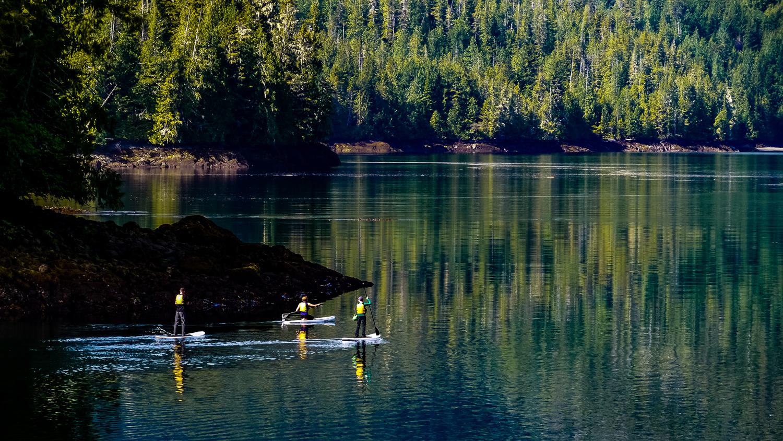 Nimmo Bay SUPing. Photo by Johanna Read TravelEater.net