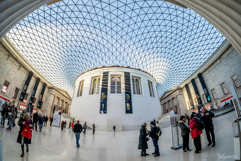 Courtyard in The British Museum.Photo by Zygmunt Spray.