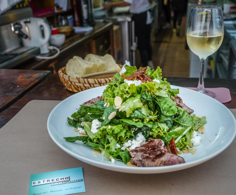Uruguayan beef salad at Estrecho. Johanna Read TravelEater.net - Wayward Weekend in Montevideo, Uruguay