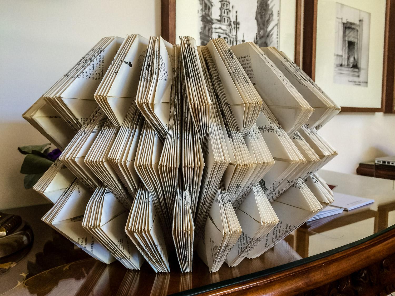 Book sculpture by Hugo Alonso Johanna Read TravelEater.net - Wayward Weekend