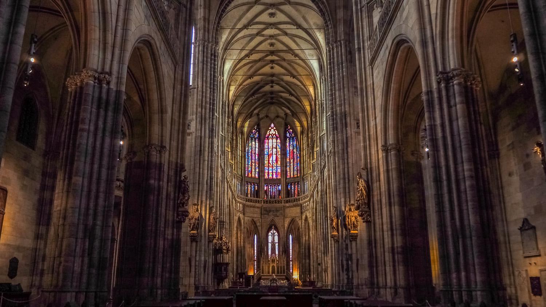 Inside St. Vitus Cathedral - Wayward Weekend in Prague.