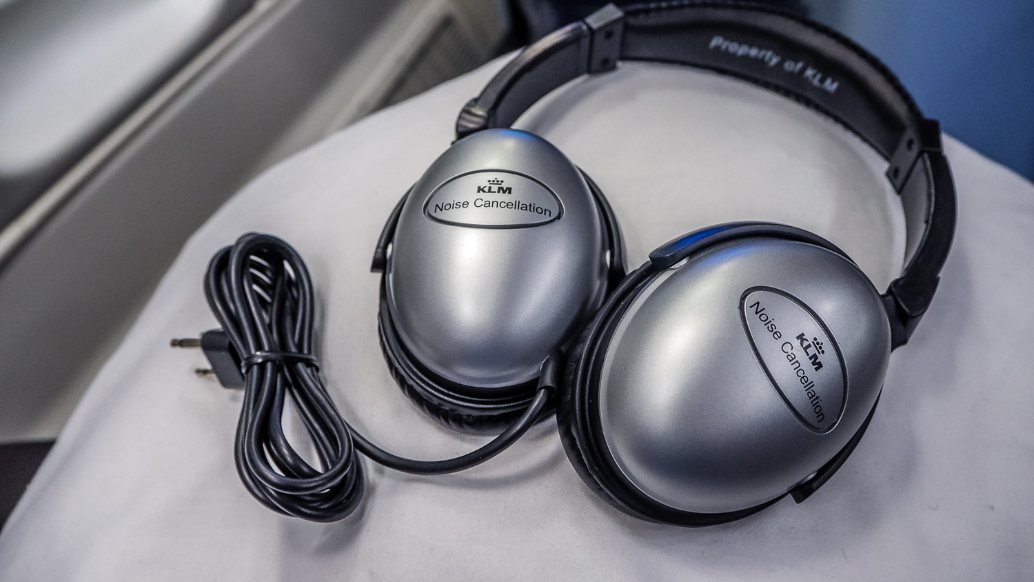 Headphones - KLM Business Class - by Britney Hope - The Wayward Post