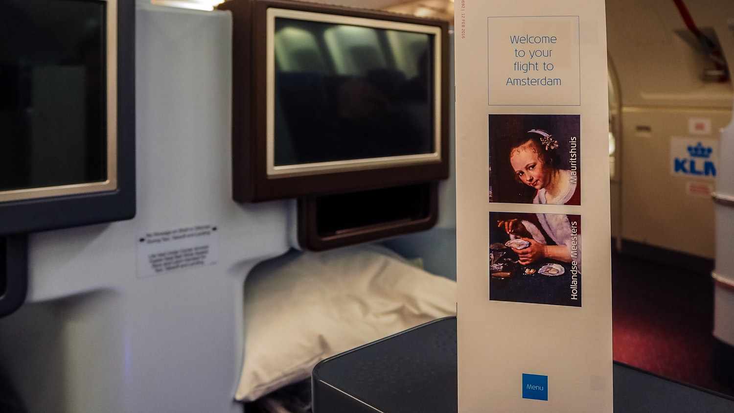 Welcome to your flight - KLM Business Class - by Britney Hope - The Wayward Post