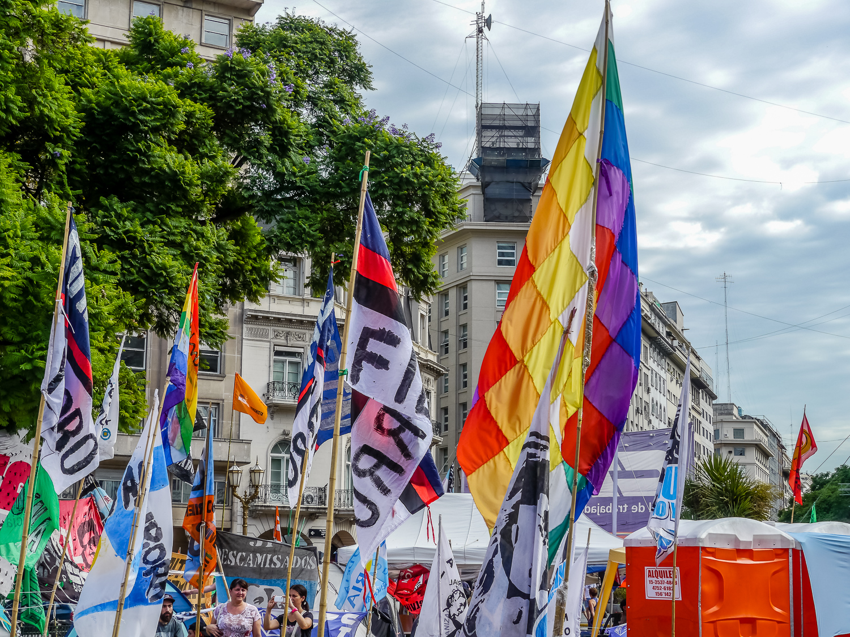 Protests, Plaza de Mayo. Photo by Johanna Read TravelEater.net