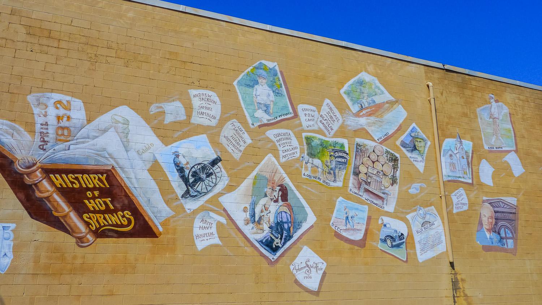 History wall, Hot Springs, Arkansas. Photo by Johanna Read TravelEater.net - Wayward Weekend - 1.jpg