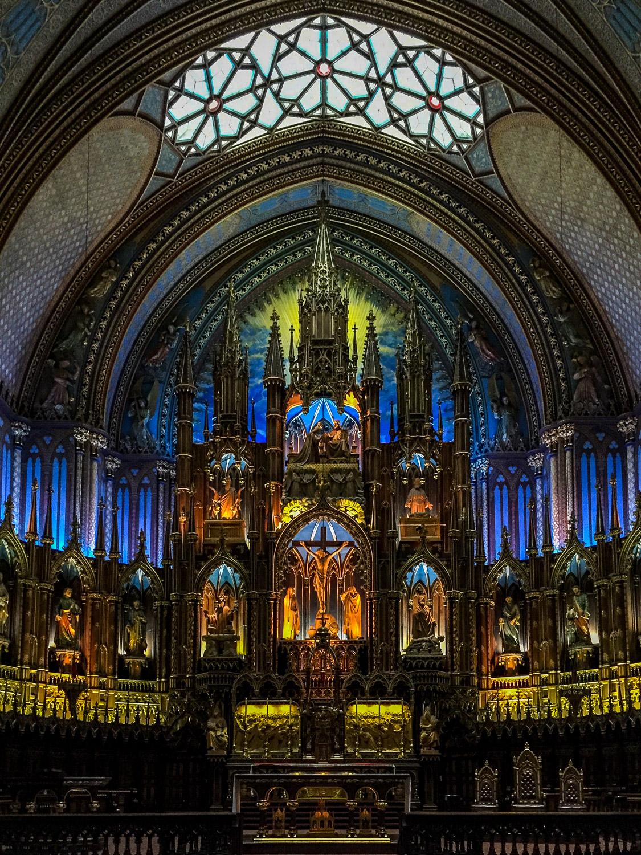 Interior of the Notre-Dame Basilica. Credit C Laroye - A Wayward Weekend in Montréal