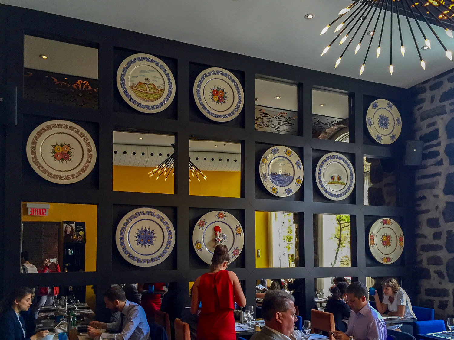 The bright interior of Restaurant Helena channels the warmth of Portugal. Credit C Laroye - A Wayward Weekend in Montréal