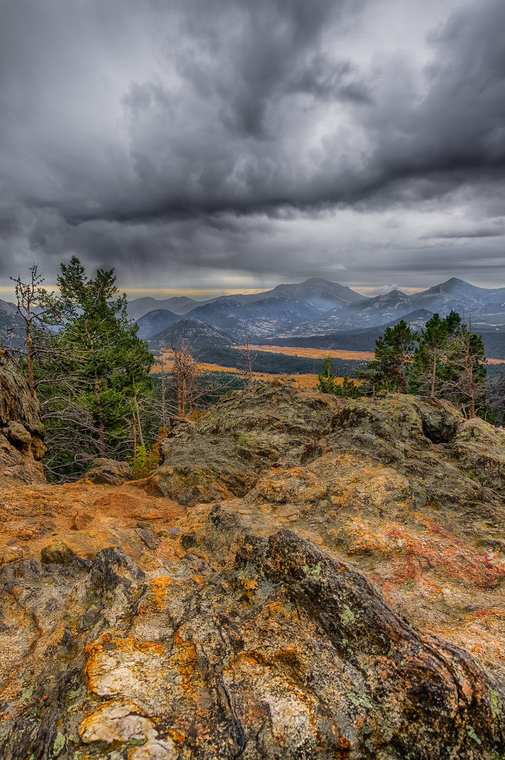 Rocks and storm in Rocky Mountain National Park