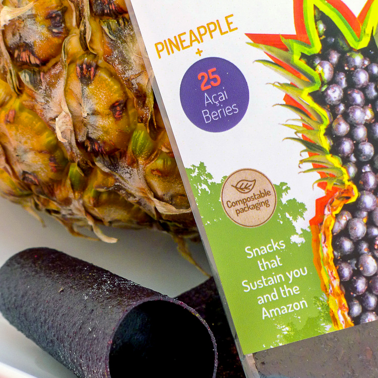 Acia + pineapple fruit strips from Peaceful Fruits.