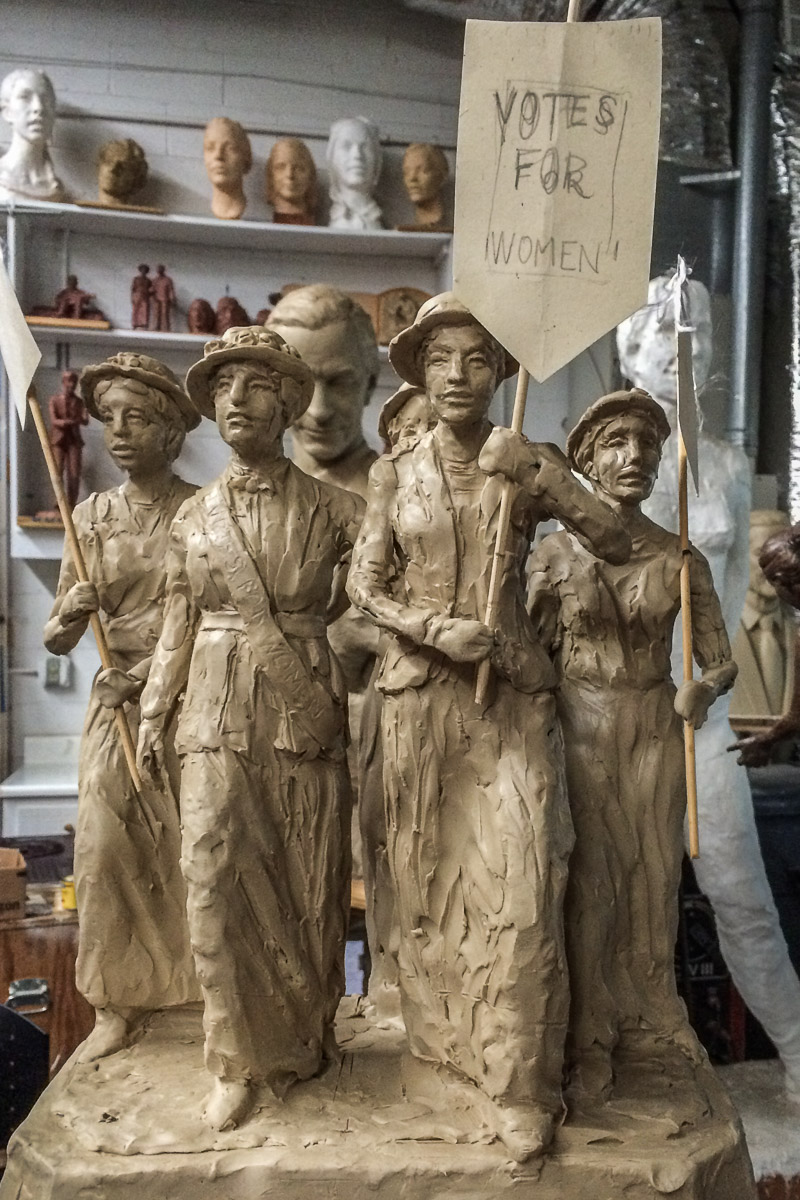 Alan LeQuire's suffrage monument model 2. Photo by Johanna Read TravelEater.net.jpg