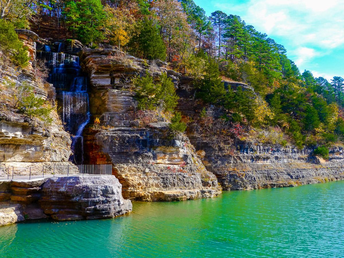 Waterfall, Dogwood Canyon. Photo by Johanna Read TravelEater.net