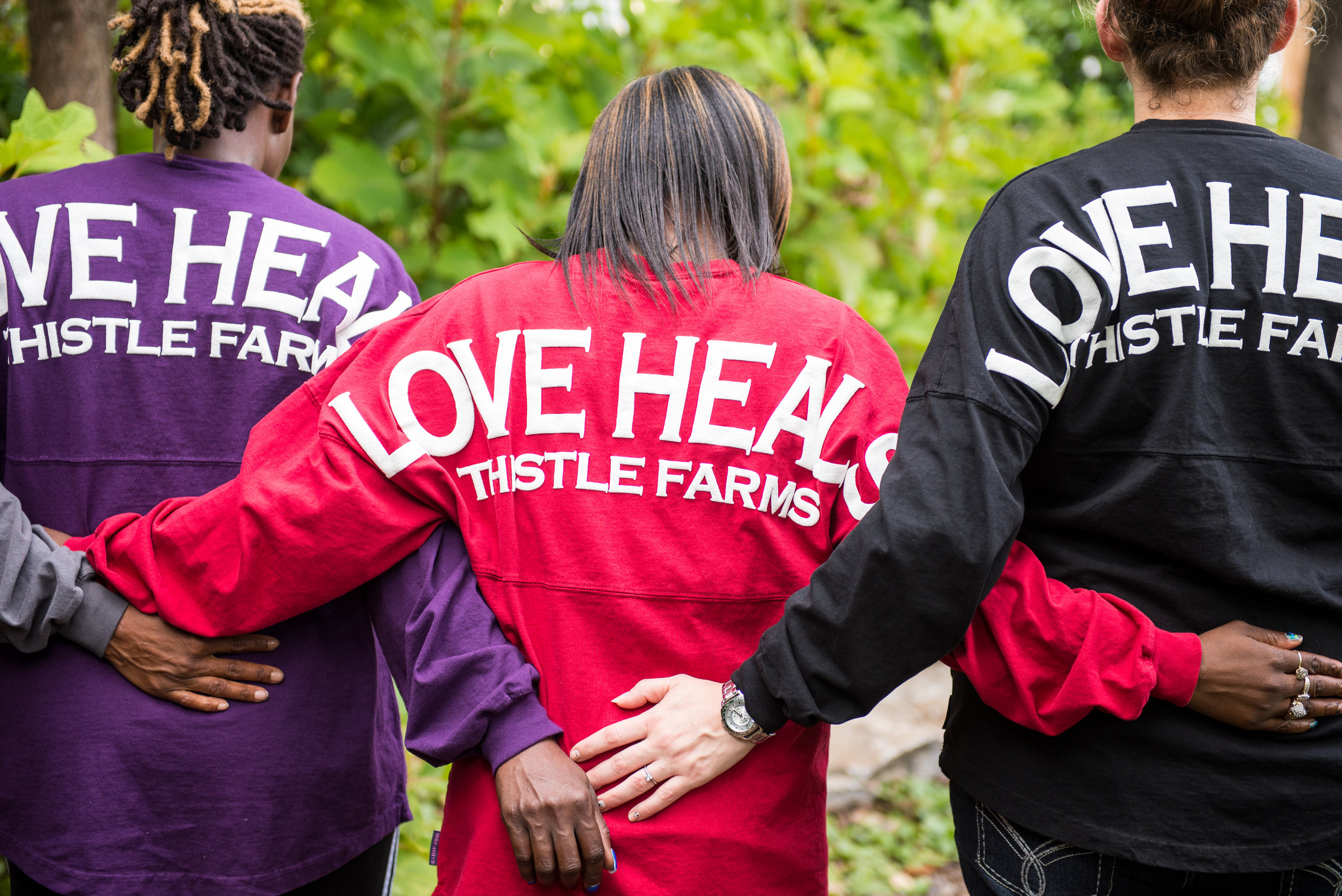 Thistle Farms Women with Love Heals Jerseys. Photo Peggy Napier