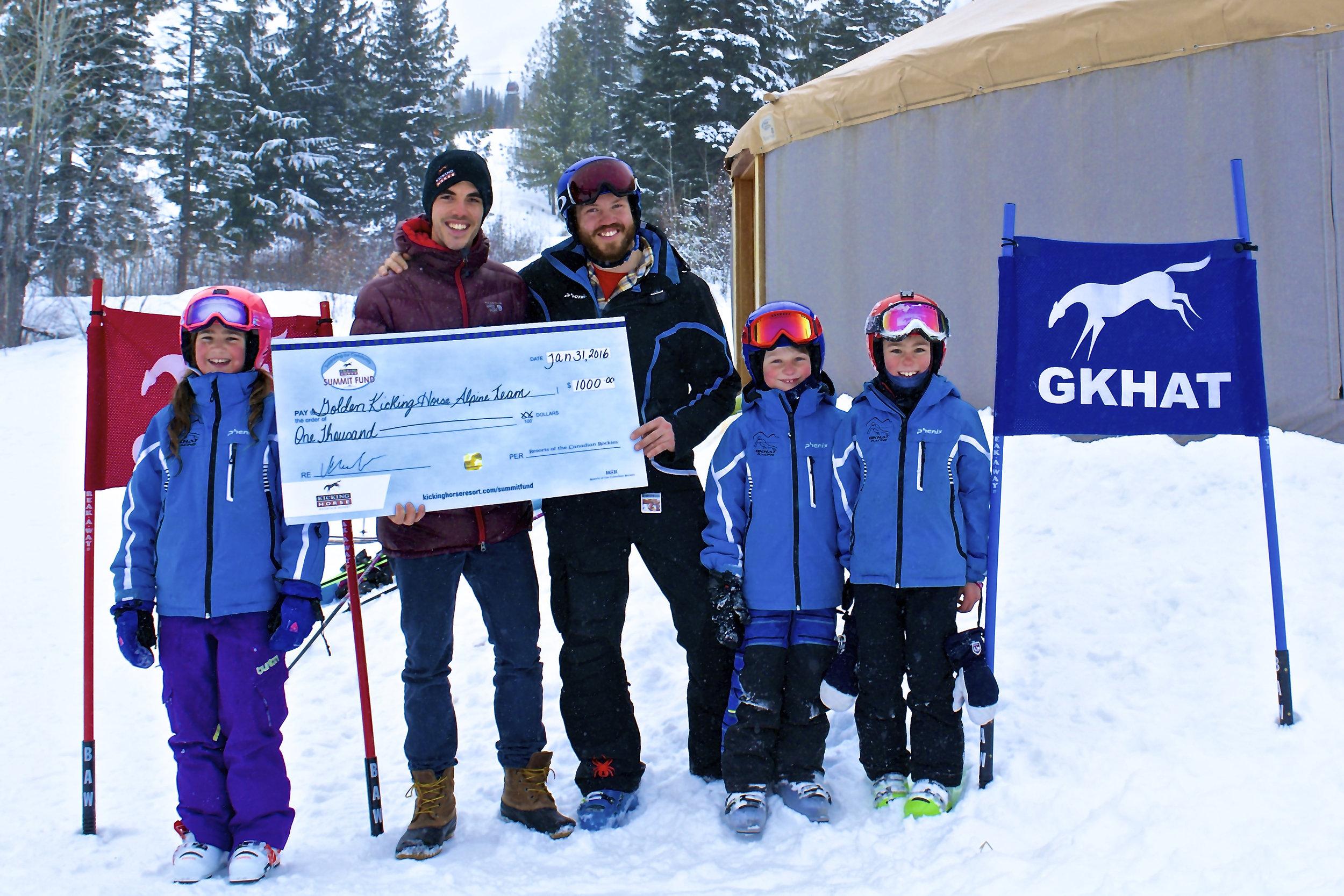 Golden Kicking Horse Alpine Team