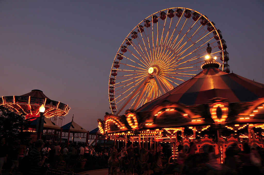 Navy Pier and Centennial Wheel Chicago. Photo Serge Melki CC BY SA 2.0
