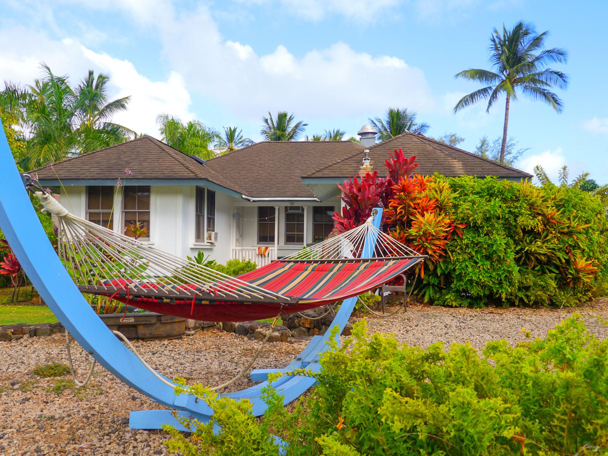 Hanging in a hammock. Fern Grotto Inn. Photo by Johanna Read TravelEater.net