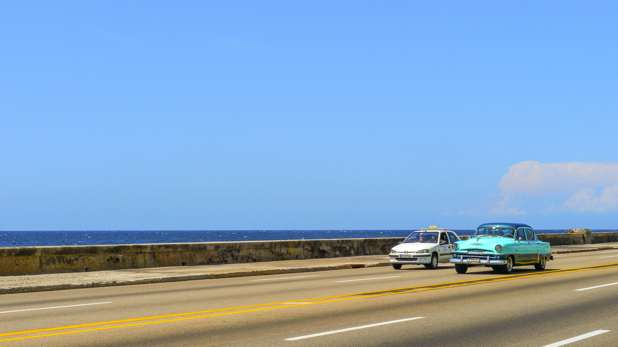 Havana's almost empty highways. Photo by Johanna Read TravelEater.net.JPG