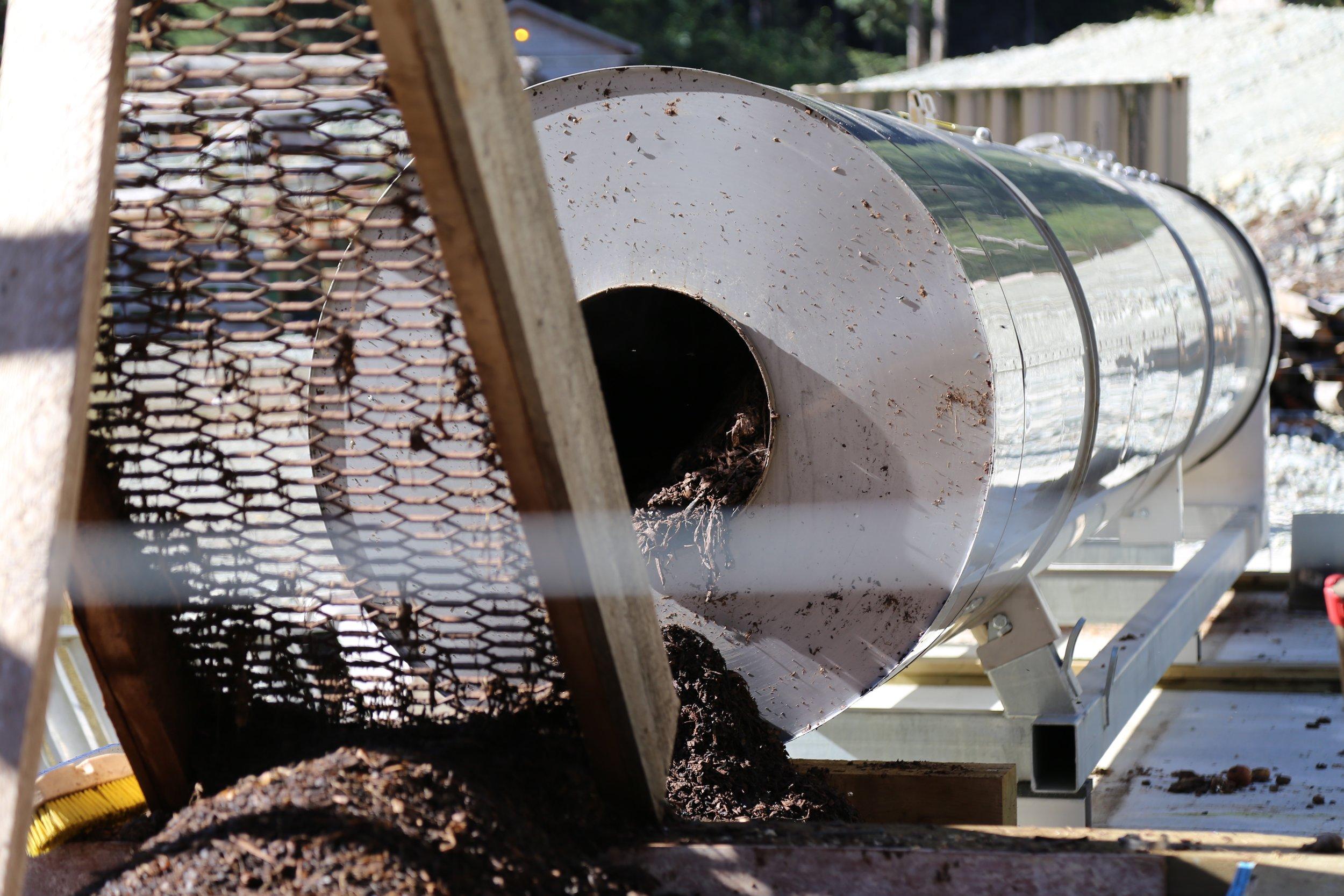Biovator Compost Machine – Source Clayoquot Wilderness Resort