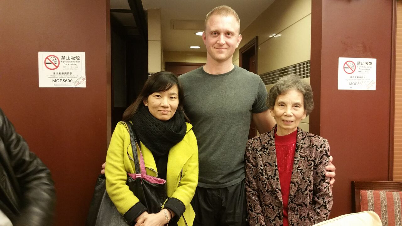 Robert Ley with GGM Ip Man's Youngest daughter and Grand Daughter