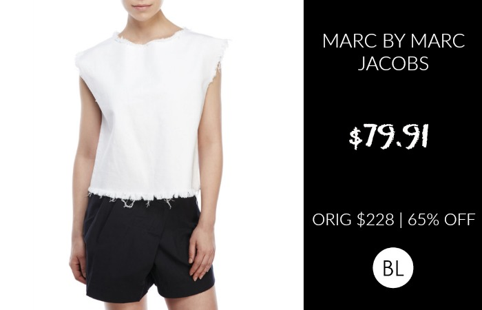 Marc by Marc Jacobs Frayed Denim Top $79.91 | ORIG $228 | 65% OFF