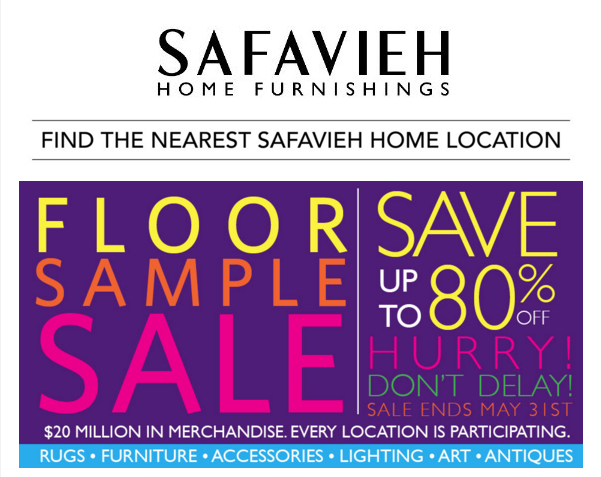 Safavieh Sample Sale Through May 31st