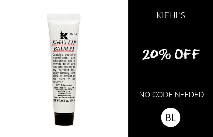 kiehl's 20% off at nordstrom