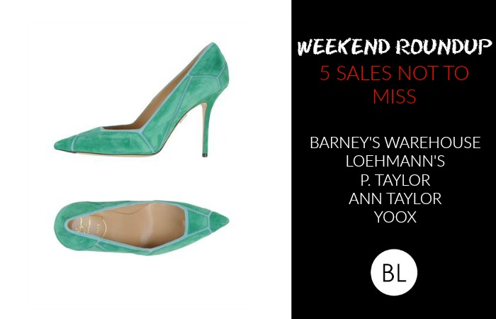 WEEKEND ROUNDUP 5 SALES NOT TO MISS