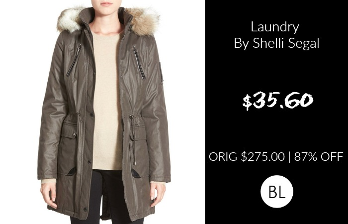 Laundry By Shelli Segal Faux Fur Trim Parka $35.60 | ORIG $275 | 87% OFF