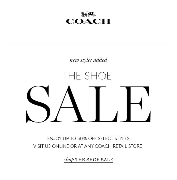 COACH SHOE SALE | UP TO 50% OFF