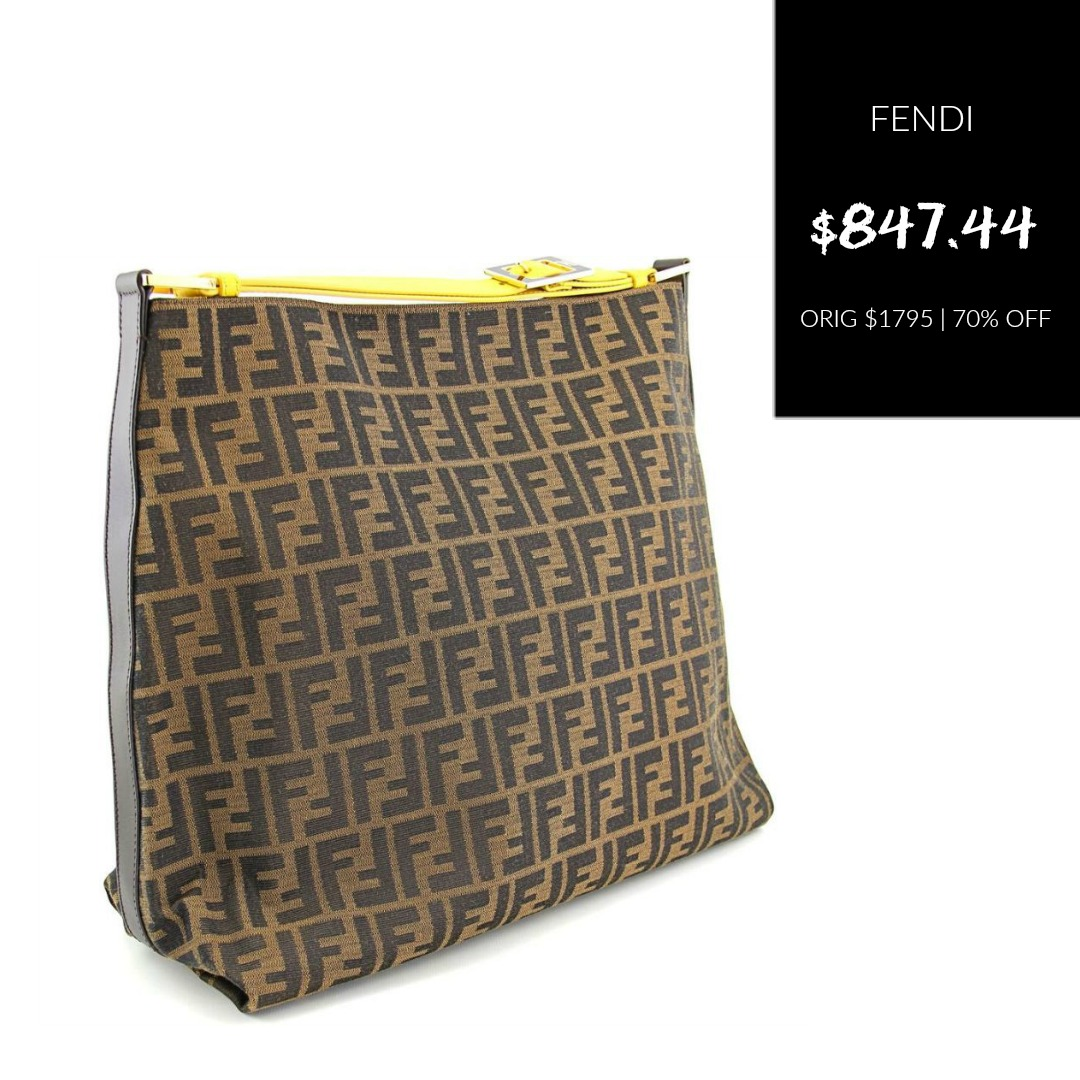Women Canvas Brown Shoulder Bag NWOT fendi bag 70 OFF.jpg