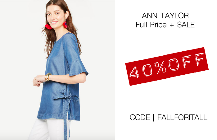 ann taylor 40% off full price sale online