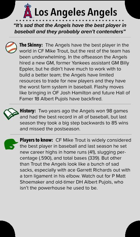 Los Angeles Angels of Anaheim Team Summary