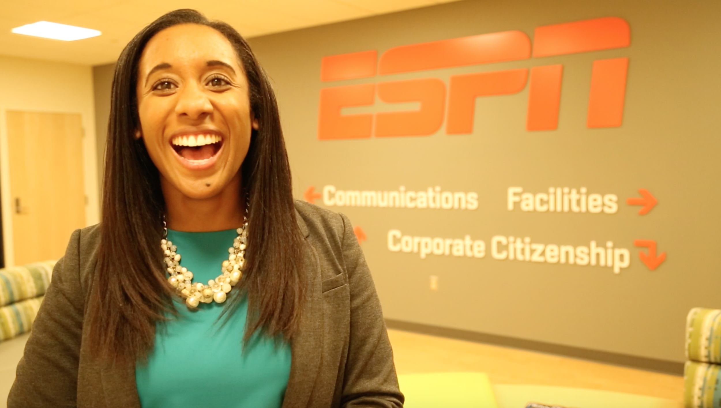 Thompson at ESPN headquarters.