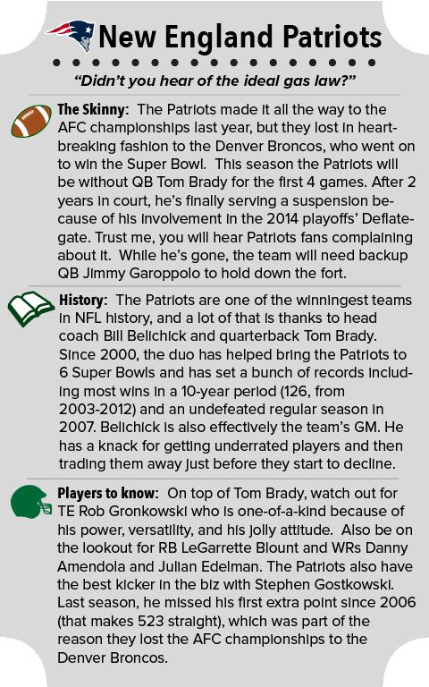 New England Patriots Team Summary