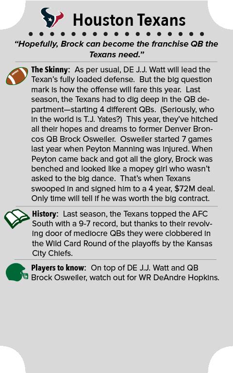 Houston Texans Team Summary
