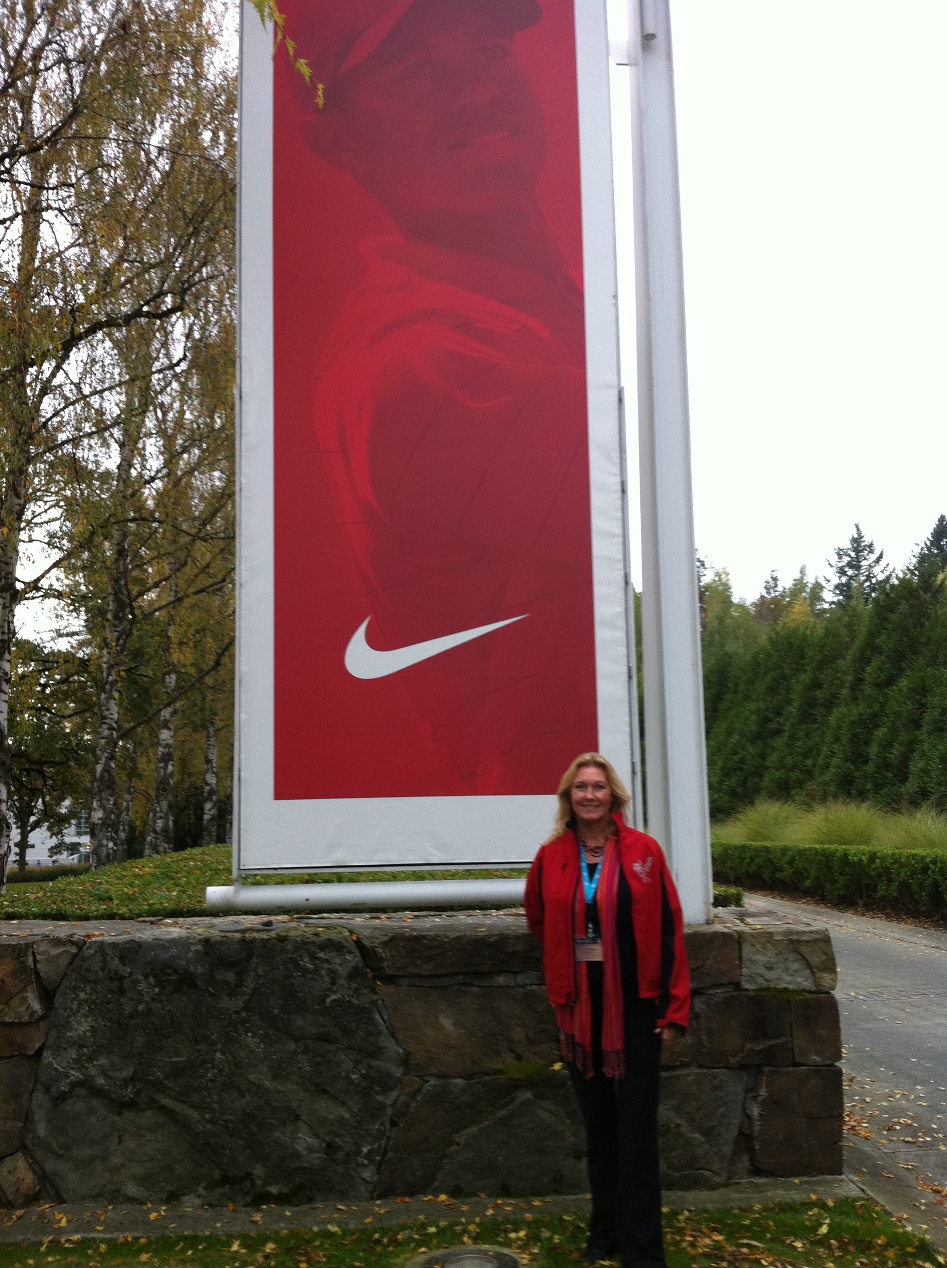 Panucci visiting the Nike headquarters.