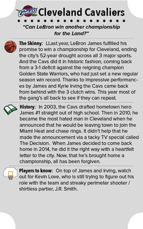 Cleveland Cavaliers Team Primer Summary