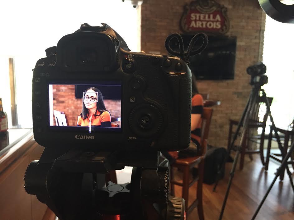 Garcia during her first video shoot for CNN Money.