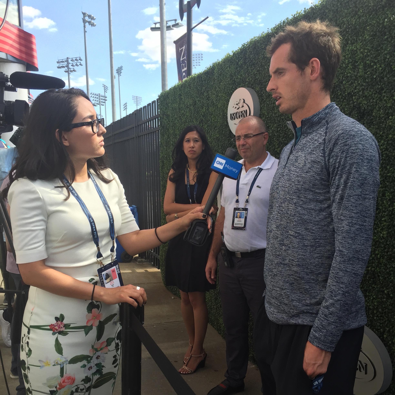 Garcia attending her first event for CNN Money, the U.S. Open.