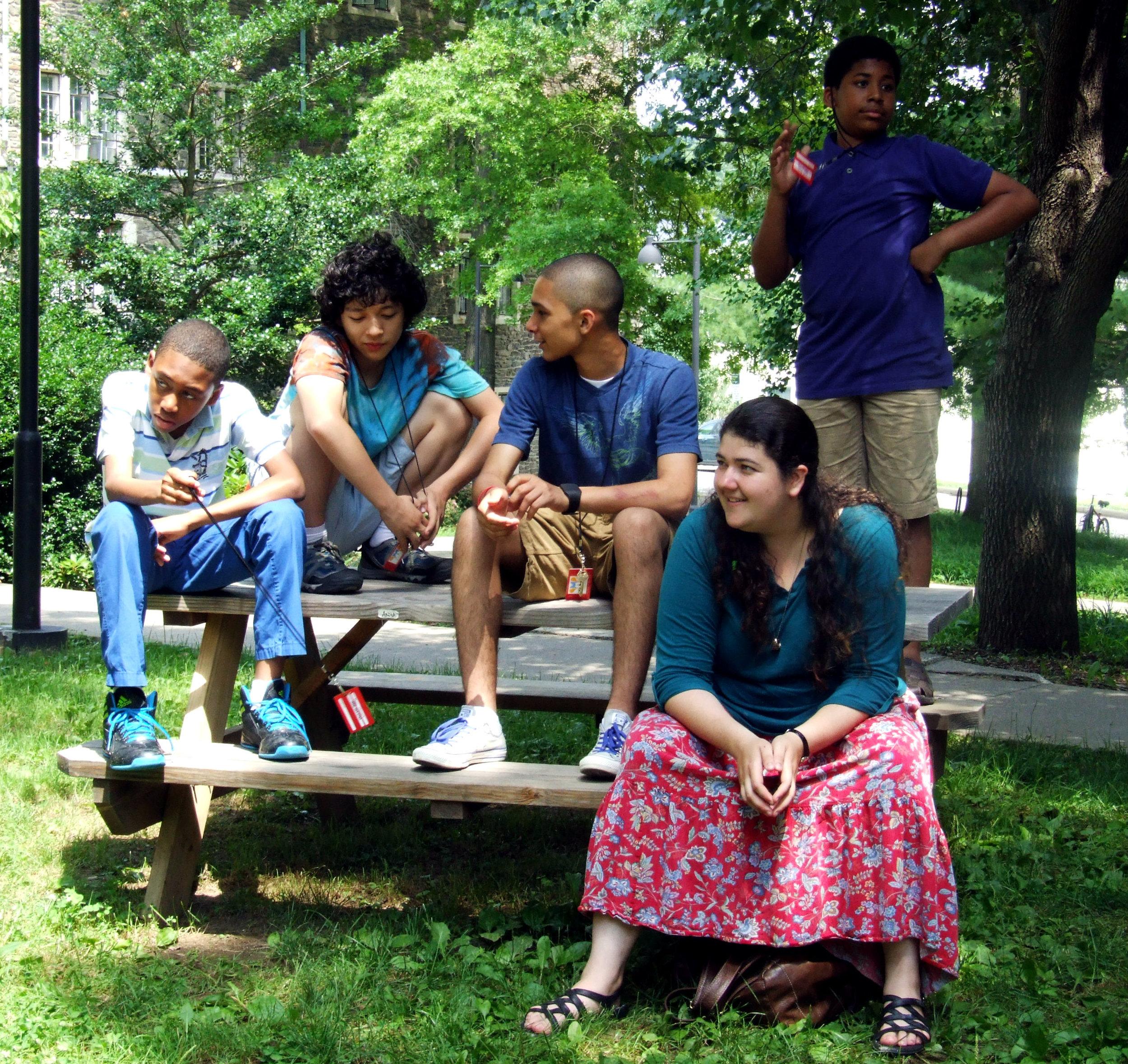 Zandra with students