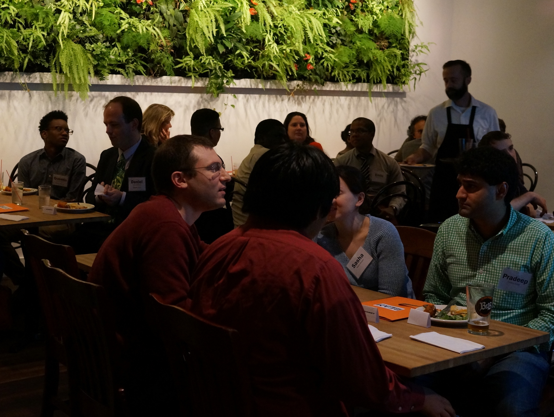 BEAM guests and students at trivia night