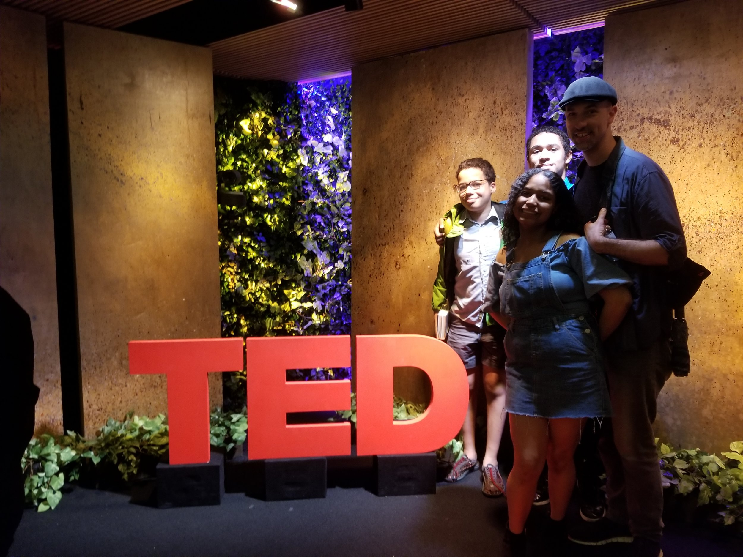 Ben with students at Ted